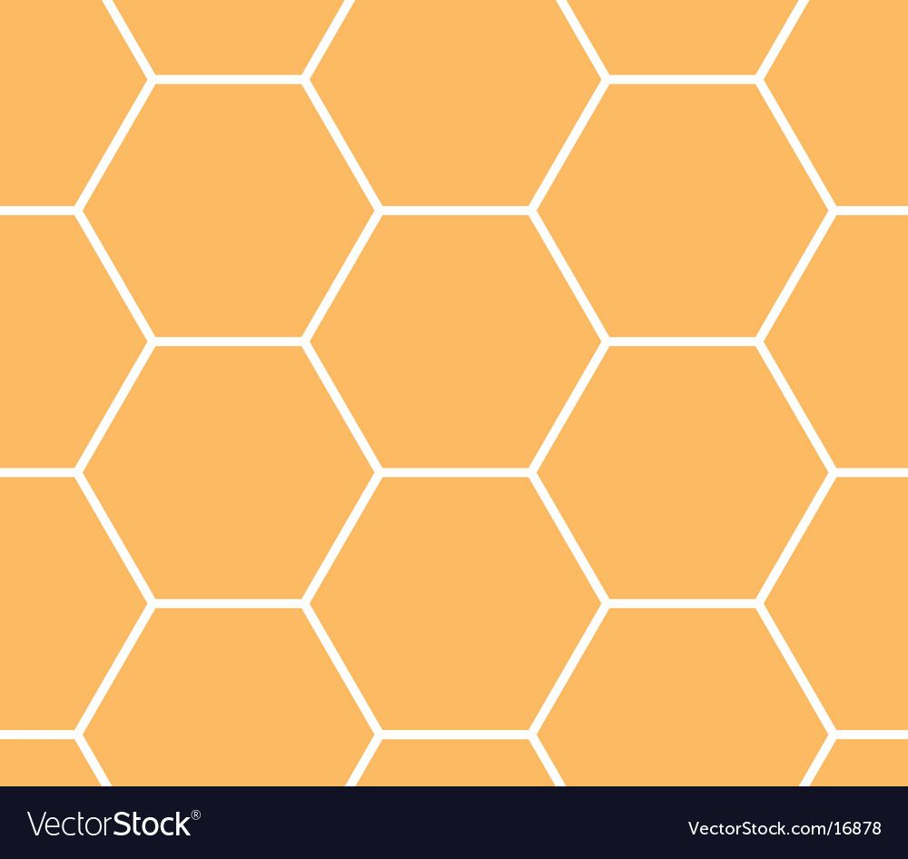 Honeycomb hexagonal pattern vector | Price: 1 Credit (USD $1)