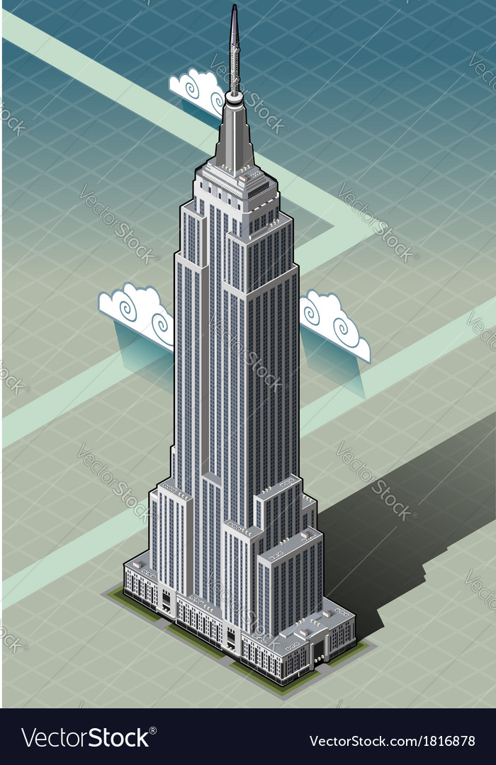 Isometric empire state building vector | Price: 1 Credit (USD $1)