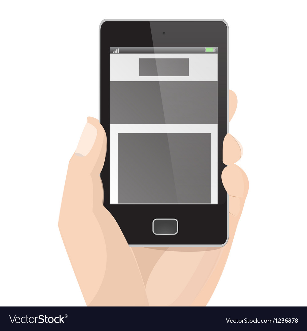 Responsive layout vertical display mobile phone vector | Price: 1 Credit (USD $1)