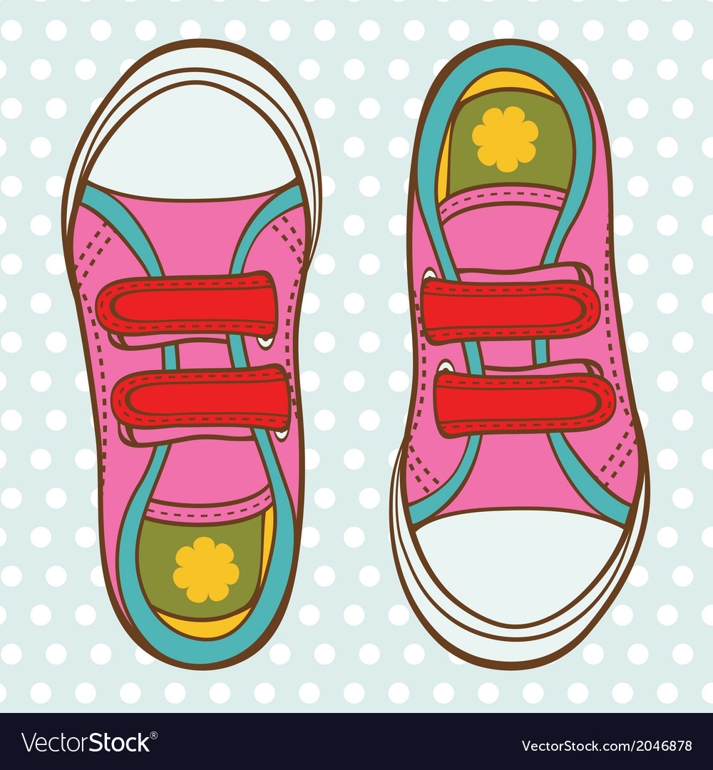 Sports shoes for a girl vector | Price: 1 Credit (USD $1)