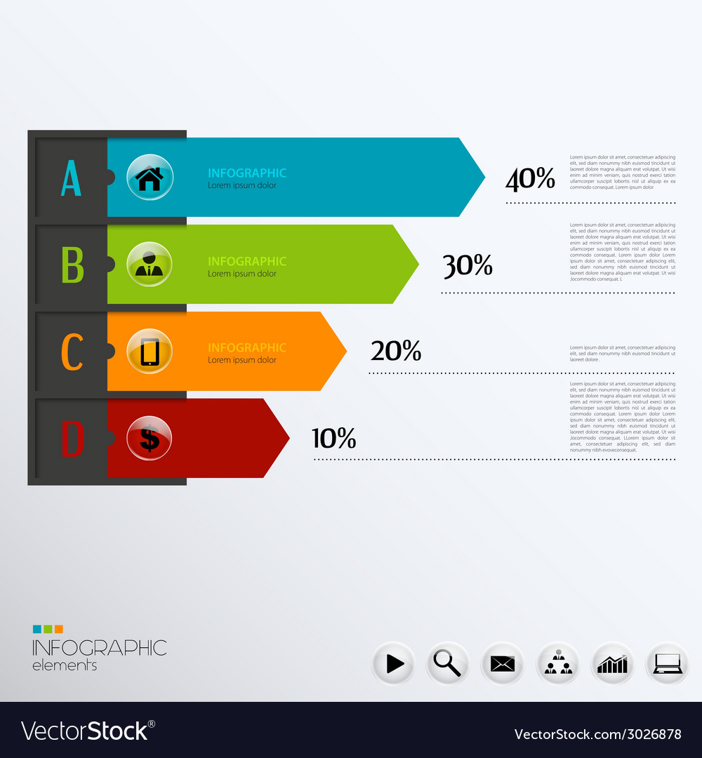 Template for infographic vector | Price: 1 Credit (USD $1)