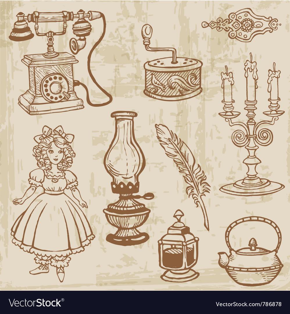 Vintage doodle elements vector   Price: 1 Credit (USD $1)