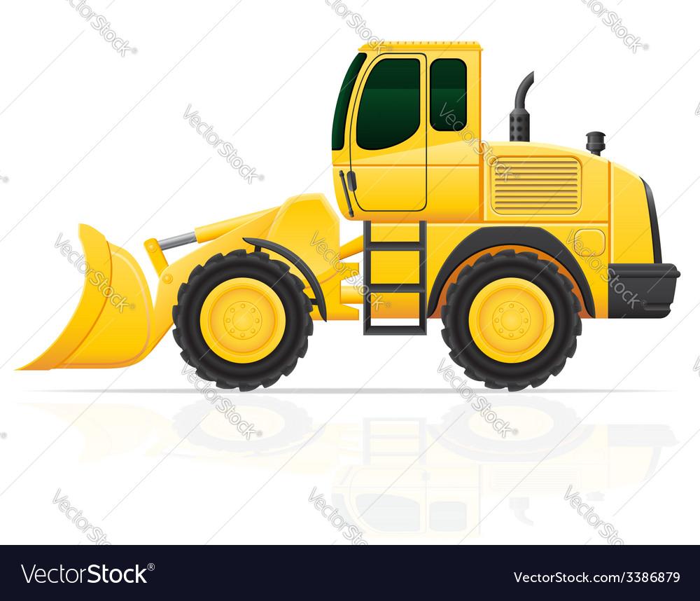 Bulldozer on wheels vector   Price: 3 Credit (USD $3)