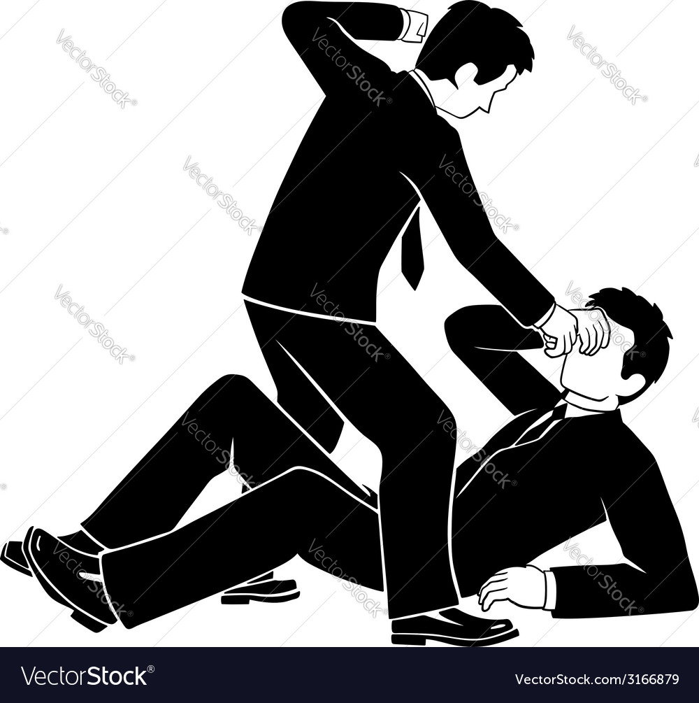 Businessman fighting vector | Price: 1 Credit (USD $1)