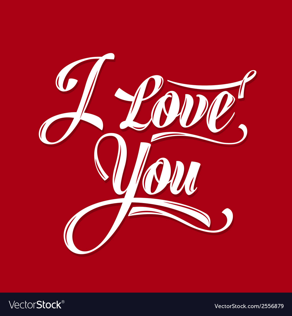 Calligraphic writing i love you vector | Price: 1 Credit (USD $1)
