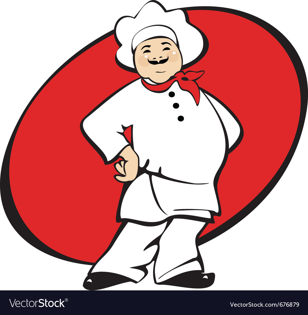 Cook man cartoon vector | Price: 1 Credit (USD $1)