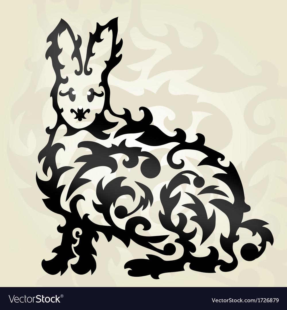 Decorative rabbit vector | Price: 1 Credit (USD $1)