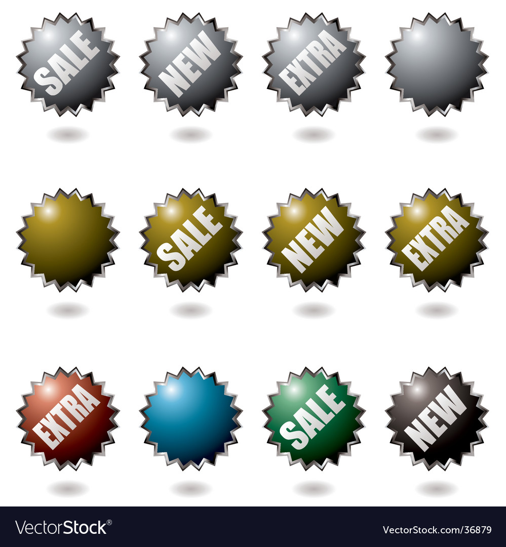 Explode buttons vector | Price: 1 Credit (USD $1)