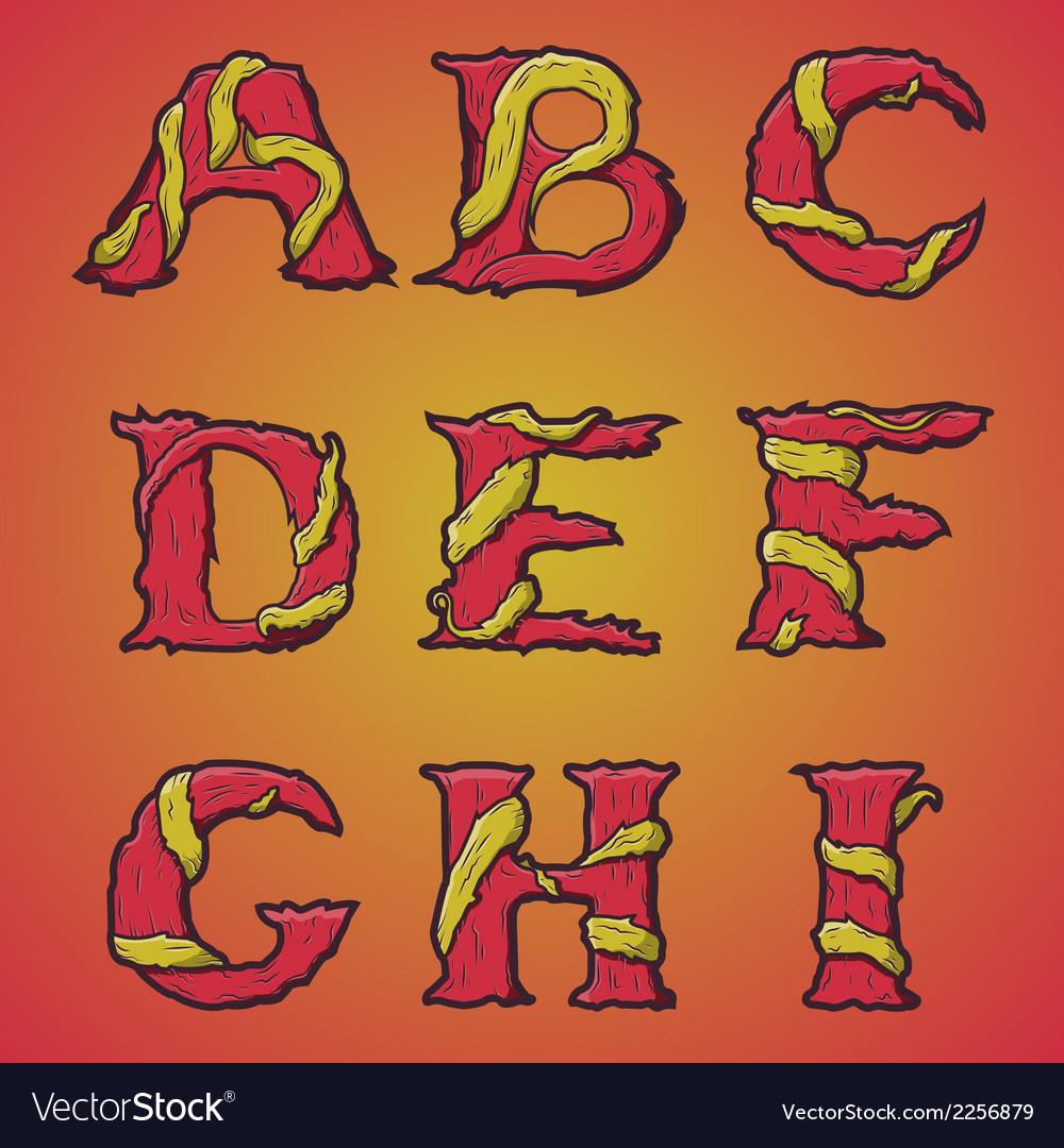 Halloween decorative alphabet part 1 vector | Price: 1 Credit (USD $1)