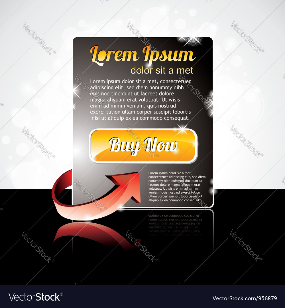 Label on a special offer with red arrow vector | Price: 1 Credit (USD $1)