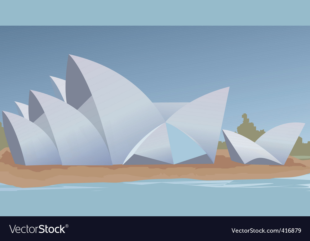 Opera house vector | Price: 1 Credit (USD $1)