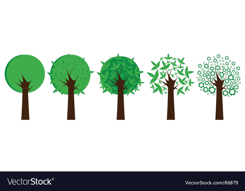Set of trees vector | Price: 1 Credit (USD $1)