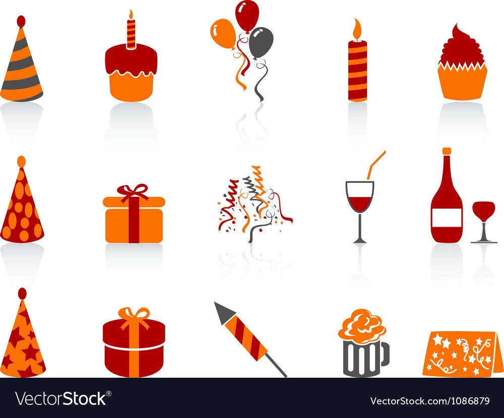Simple color birthday icon vector | Price: 1 Credit (USD $1)