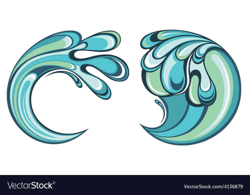 Water splash vector | Price: 1 Credit (USD $1)