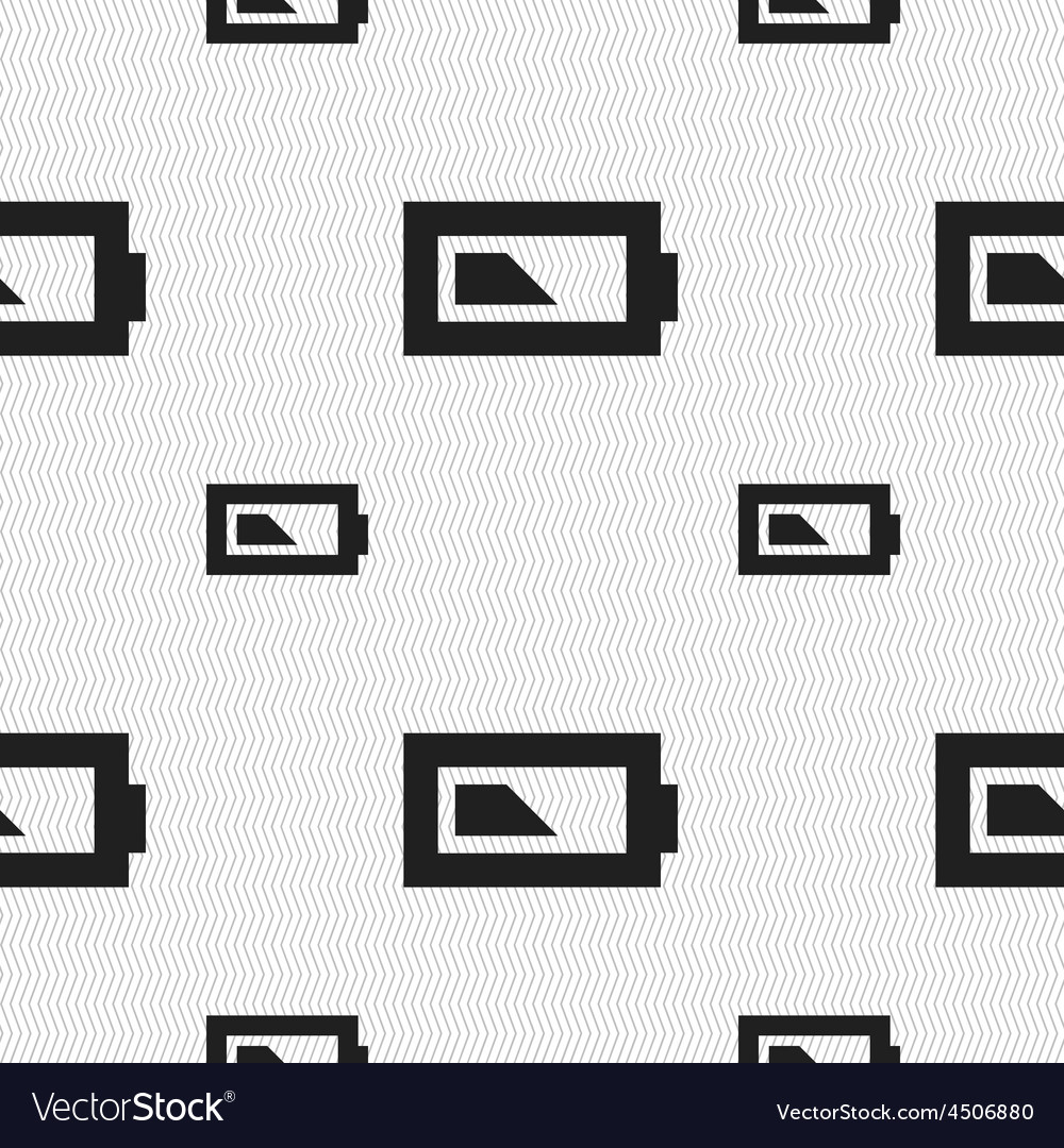 Battery half level icon sign seamless pattern with vector | Price: 1 Credit (USD $1)