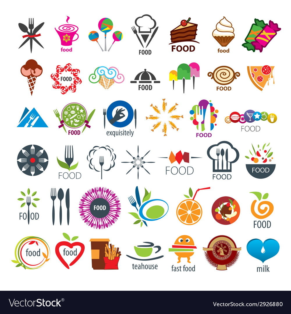 Biggest collection of logos food vector | Price: 1 Credit (USD $1)