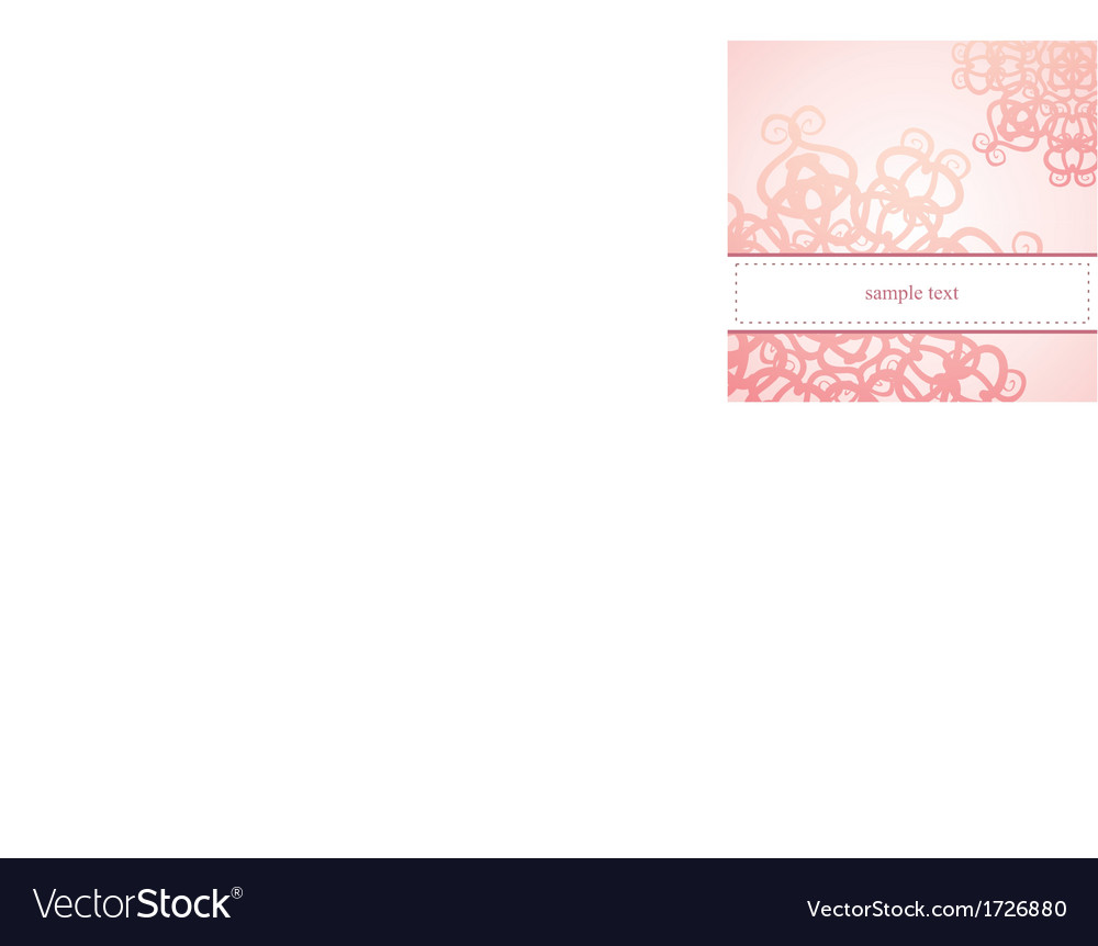 Classic elegant floral card or ornament invitation vector | Price: 1 Credit (USD $1)