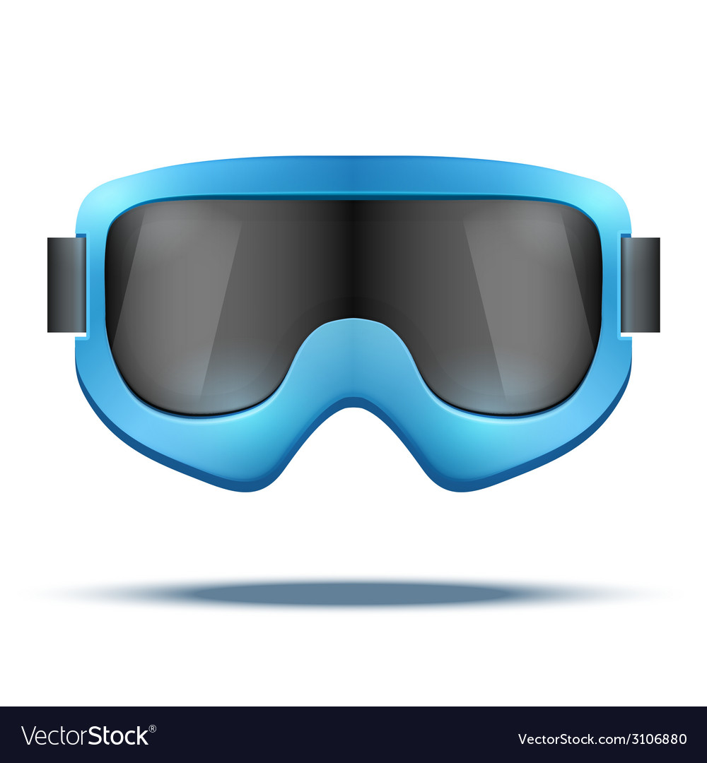 Classic vintage old school blue snowboard ski vector | Price: 1 Credit (USD $1)