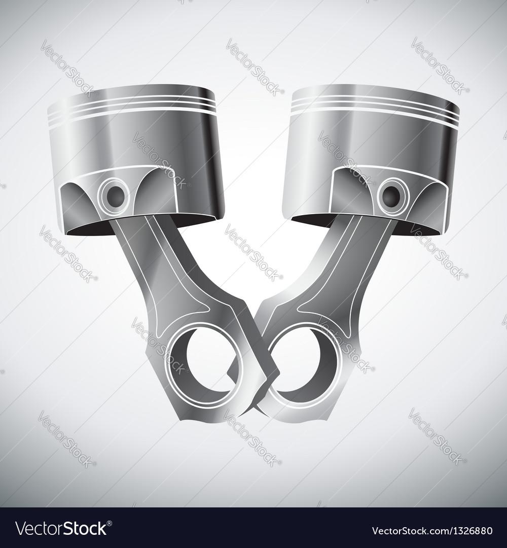Engine pistons vector | Price: 1 Credit (USD $1)