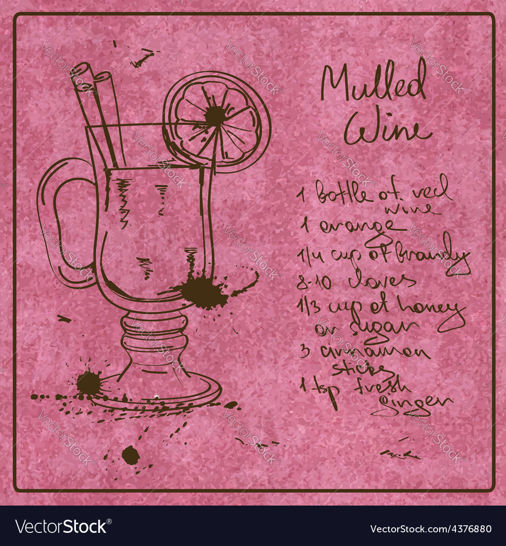 Hand drawn mulled wine cocktail vector | Price: 1 Credit (USD $1)