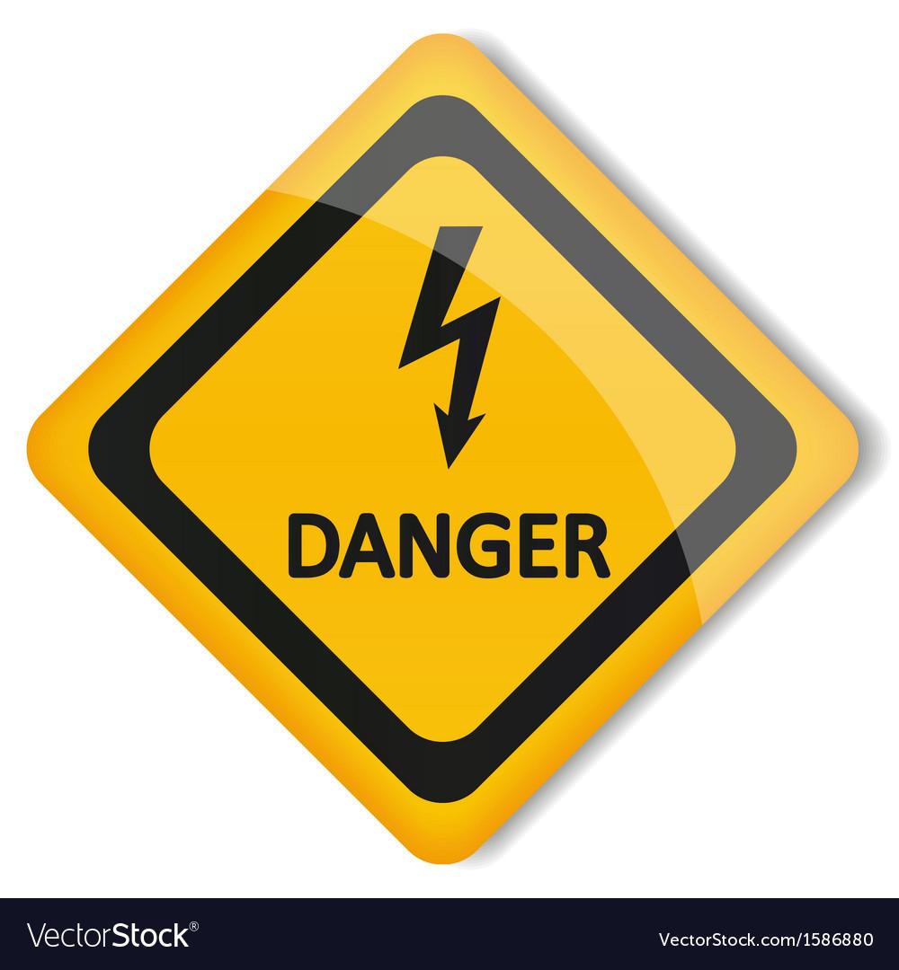Label electricity hazard vector | Price: 1 Credit (USD $1)