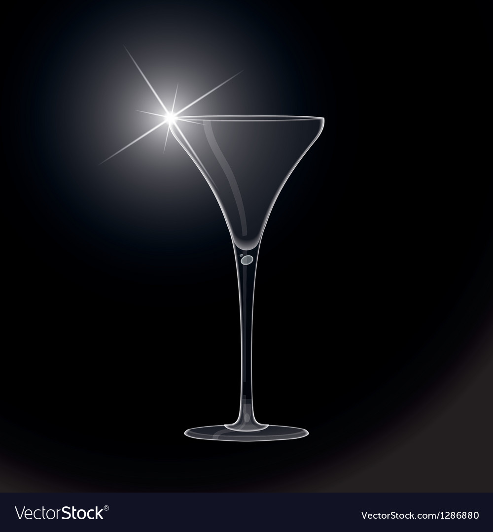 Martini glass cocktail vector | Price: 1 Credit (USD $1)