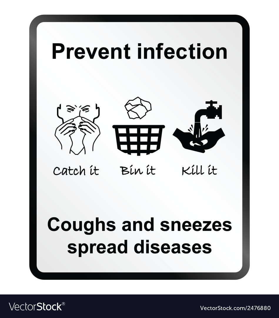 Prevent infection information sign vector | Price: 1 Credit (USD $1)
