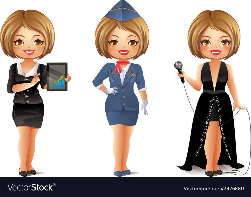 Professions set 4 vector | Price: 3 Credit (USD $3)