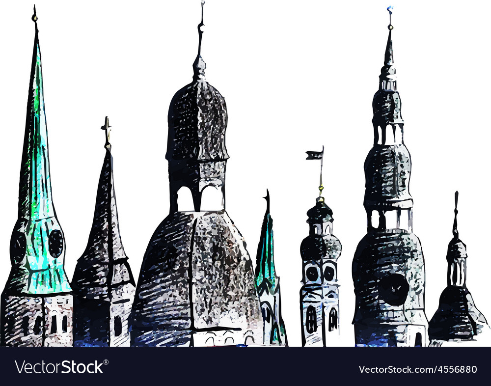 Riga towers vector | Price: 1 Credit (USD $1)