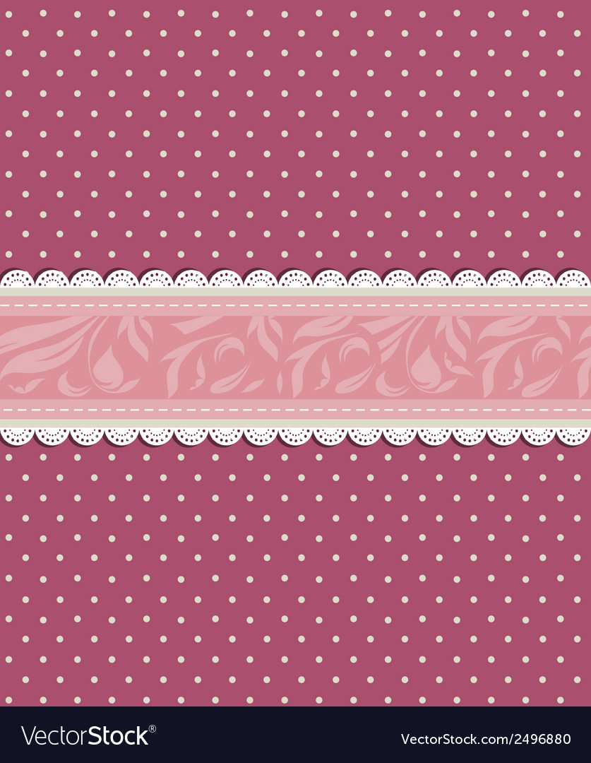 Vintage floral red background vector | Price: 1 Credit (USD $1)
