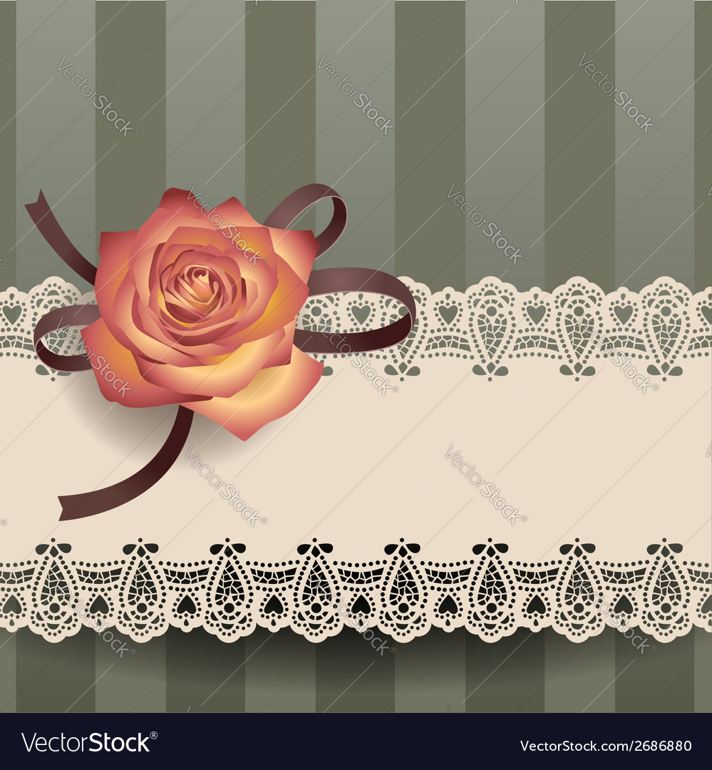 Vintage lace ribbon vector | Price: 1 Credit (USD $1)