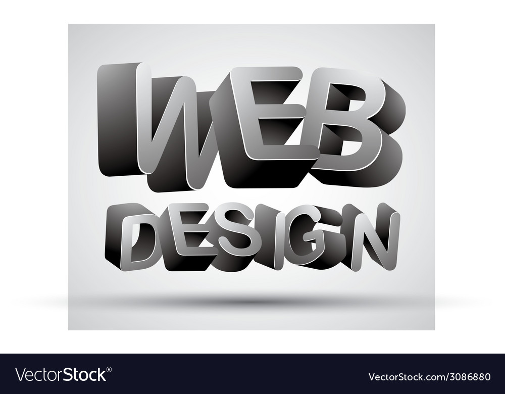Web design lettering vector | Price: 1 Credit (USD $1)