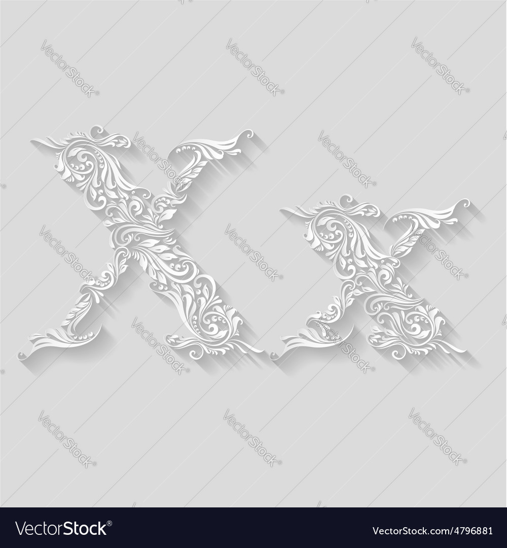 Decorated letter x vector | Price: 1 Credit (USD $1)
