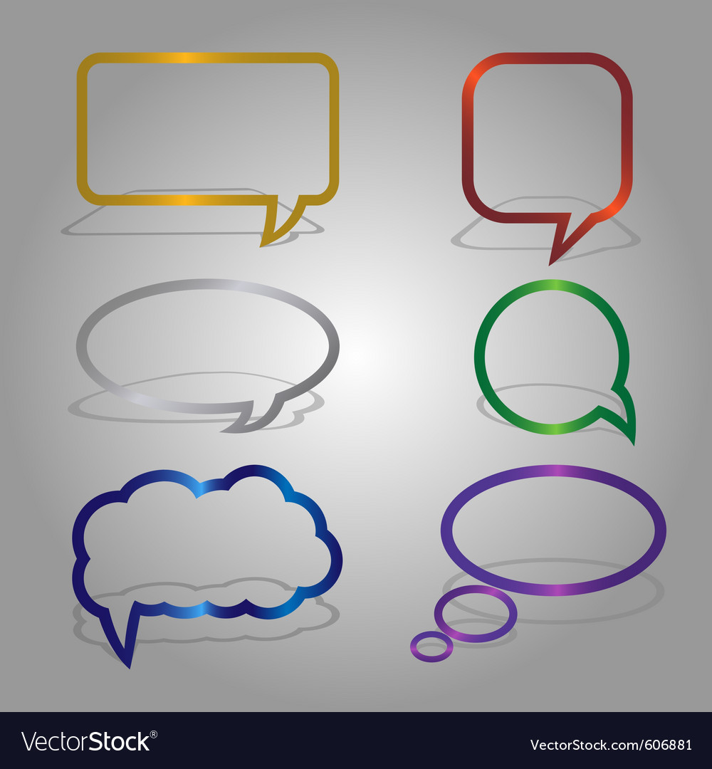 Dialog bubbles set vector | Price: 1 Credit (USD $1)