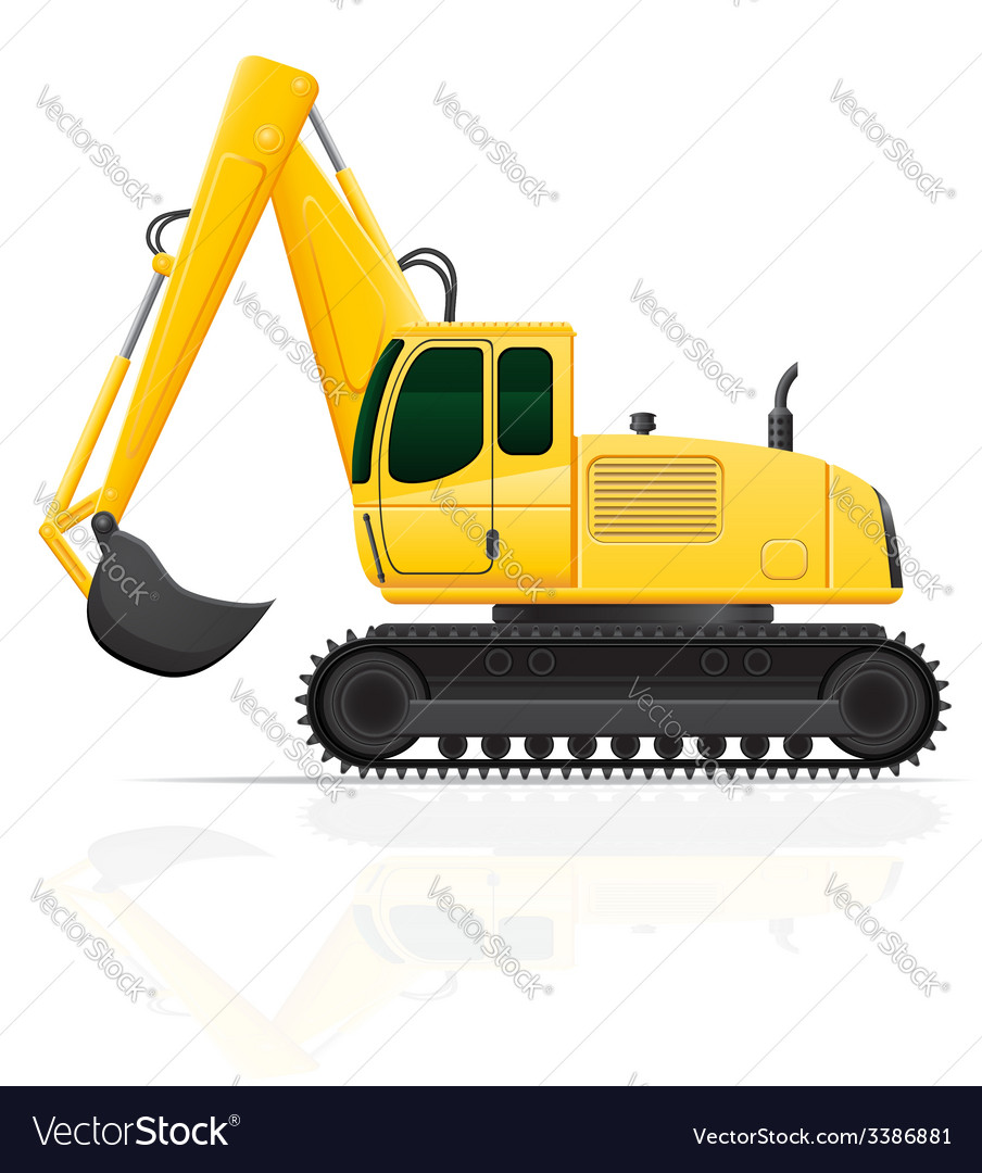 Excavator vector | Price: 3 Credit (USD $3)