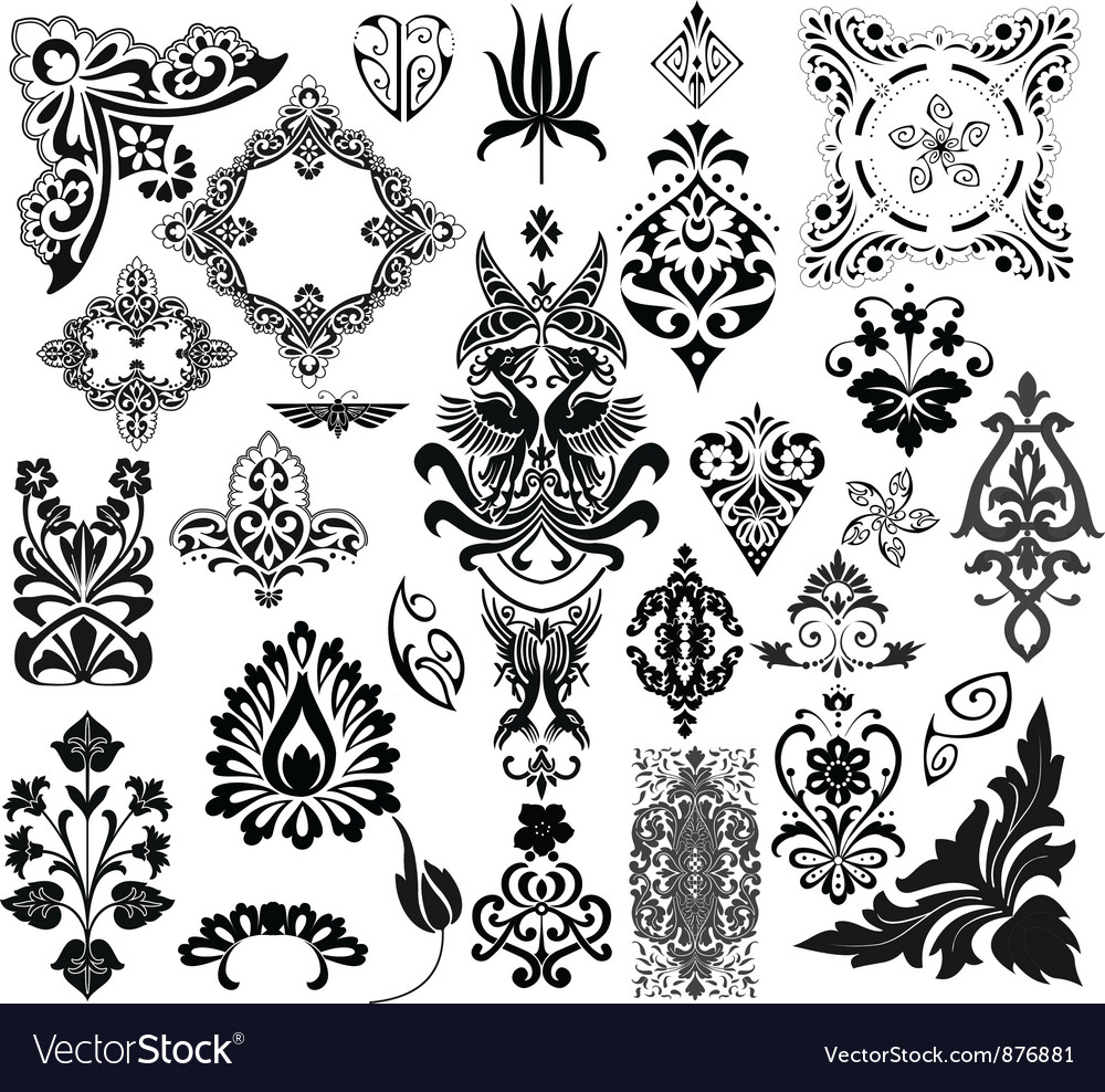 Filigree set vector | Price: 1 Credit (USD $1)