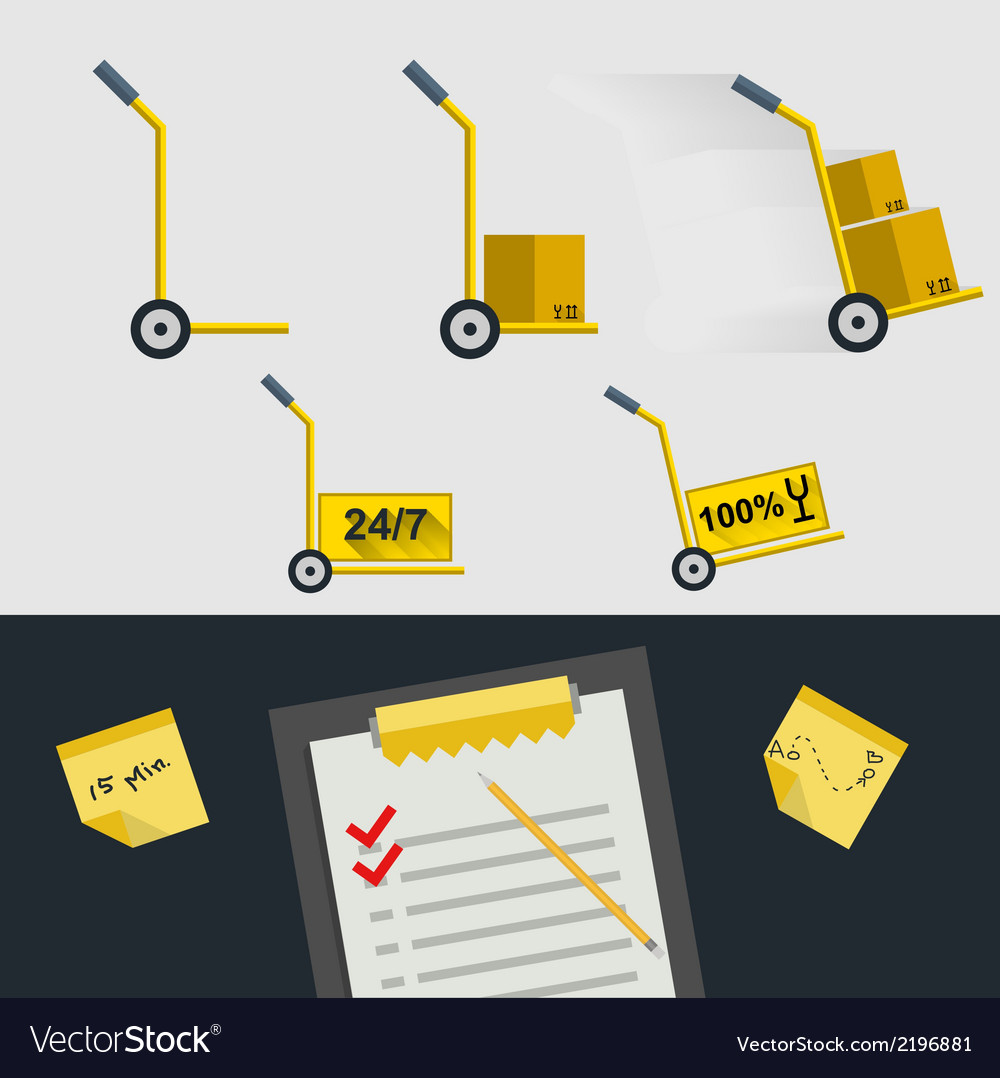 Flat icons for delivery of goods vector | Price: 1 Credit (USD $1)