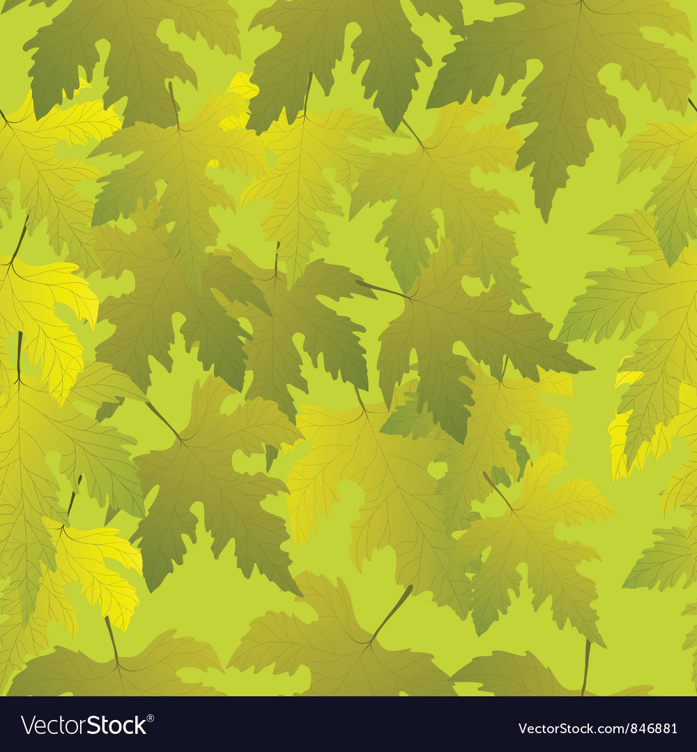 Grape leaves seamless pattern vector | Price: 1 Credit (USD $1)
