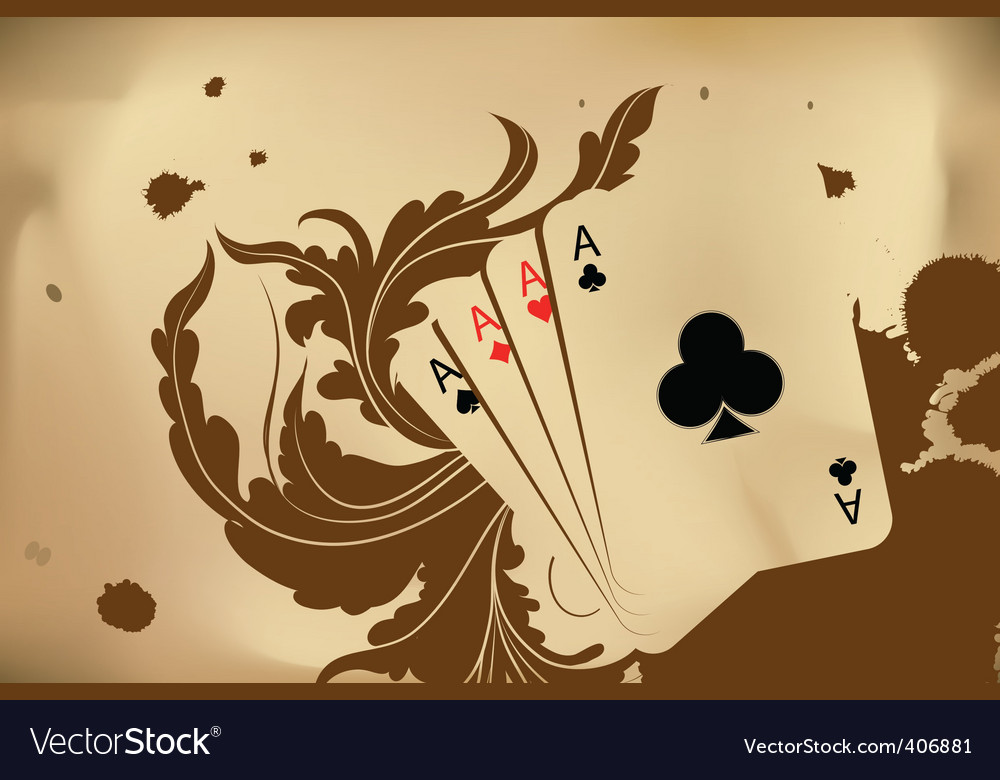 Revolver and playing cards vector | Price: 1 Credit (USD $1)