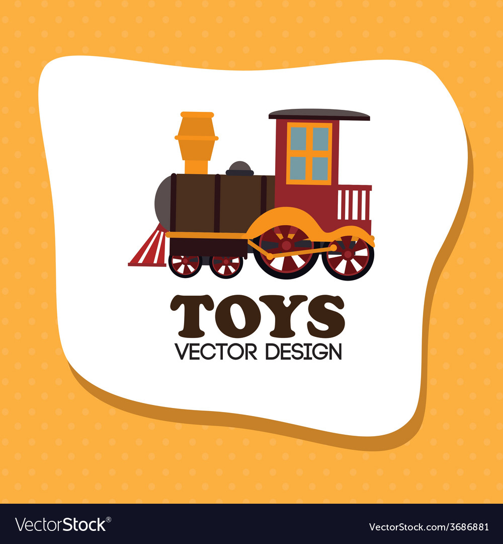 Toys design over yellow background vector | Price: 1 Credit (USD $1)