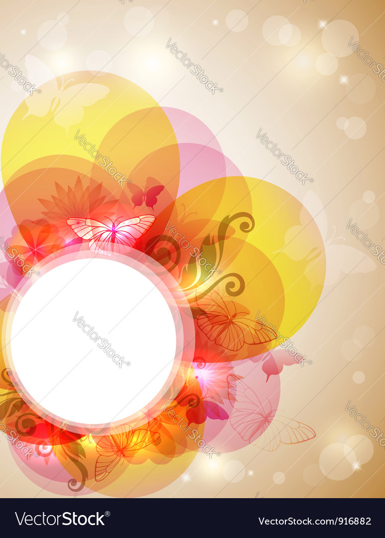 Abstract butterfly banner vector | Price: 1 Credit (USD $1)