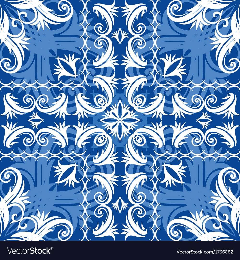 Blue vintage seamless vector | Price: 1 Credit (USD $1)