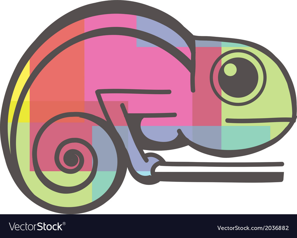 Chameleon icon vector | Price: 1 Credit (USD $1)