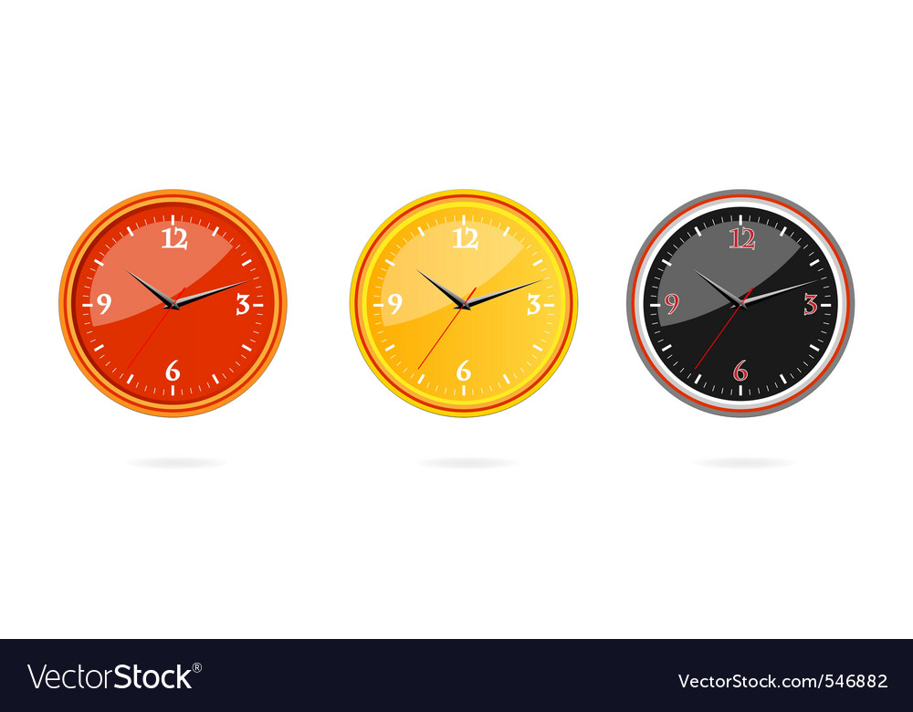 Classic and modern clocks set vector   Price: 1 Credit (USD $1)