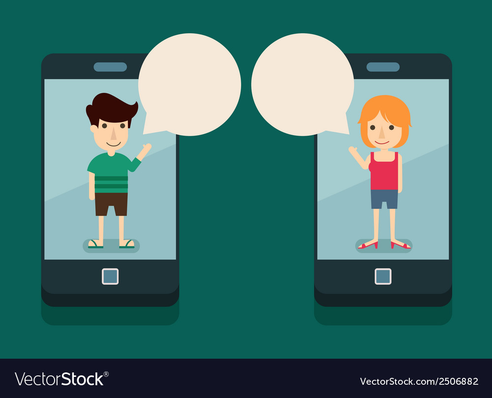 Communication with smartphone vector | Price: 1 Credit (USD $1)