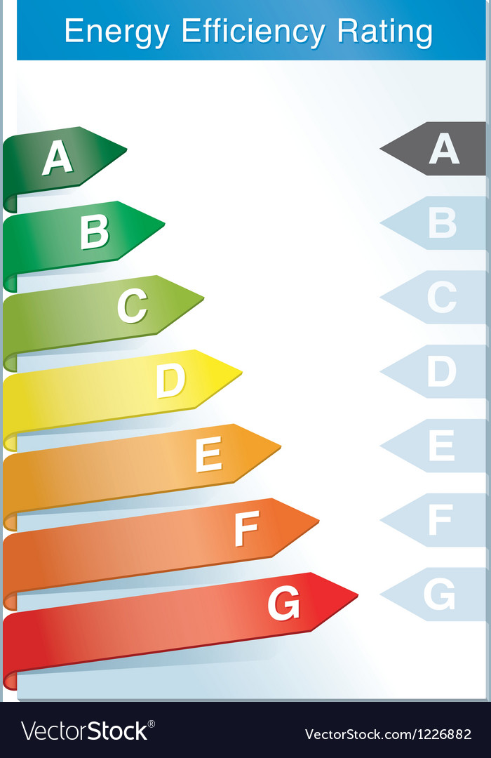 Energy efficiency label vector | Price: 1 Credit (USD $1)