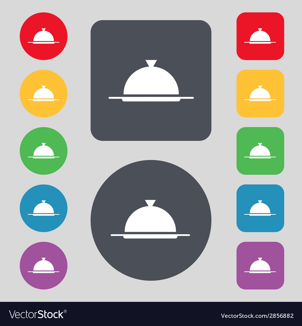 Food platter serving sign icon table setting in vector   Price: 1 Credit (USD $1)