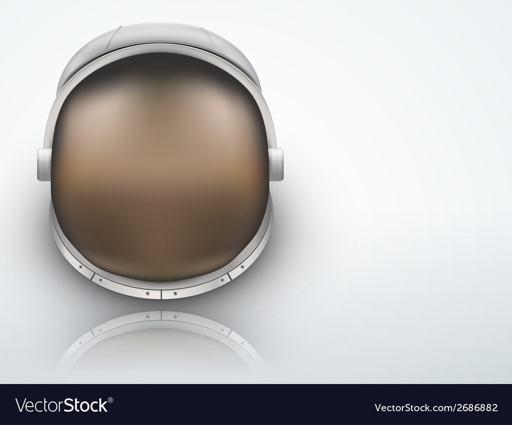 Light background astronaut helmet with reflection vector | Price: 1 Credit (USD $1)
