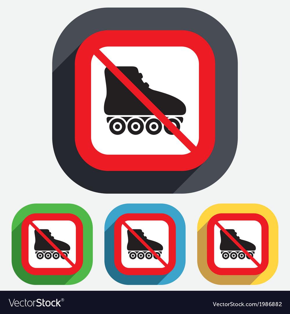 No roller skates sign icon rollerblades symbol vector   Price: 1 Credit (USD $1)