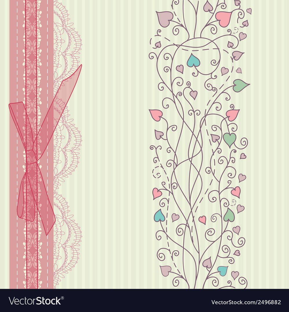 Vintage floral card background vector   Price: 1 Credit (USD $1)